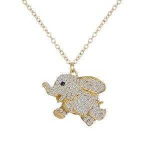 Swarovski Crystal flying Elephant Necklace